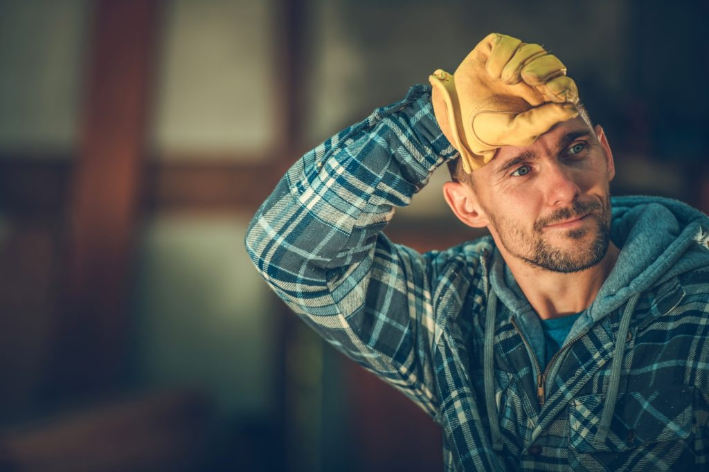 Tired by Happy Worker