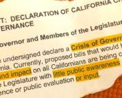 Declaration of California Crisis of Governance